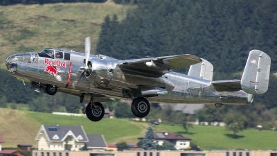 Photo ID 188000 by Thomas Ziegler - Aviation-Media. Private Red Bull North American B 25J Mitchell, N6123C
