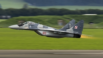 Photo ID 188050 by Thomas Ziegler - Aviation-Media. Poland Air Force Mikoyan Gurevich MiG 29G 9 12A, 105