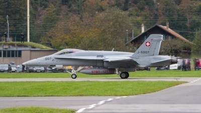 Photo ID 188414 by Agata Maria Weksej. Switzerland Air Force McDonnell Douglas F A 18C Hornet, J 5007
