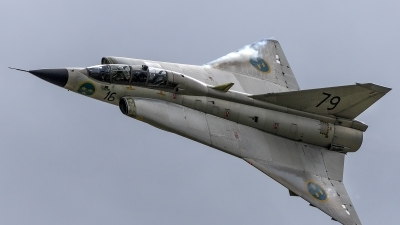 Photo ID 188869 by Thomas Ziegler - Aviation-Media. Private Swedish Air Force Historic Flight Saab Sk35C Draken, SE DXP