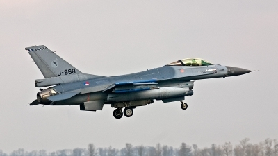 Photo ID 189075 by Jan Eenling. Netherlands Air Force General Dynamics F 16AM Fighting Falcon, J 868