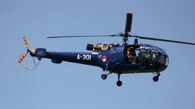 Photo ID 189318 by Jan Eenling. Netherlands Air Force Aerospatiale SA 316B Alouette III, A 301
