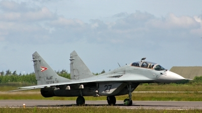 Photo ID 189588 by Jan Eenling. Hungary Air Force Mikoyan Gurevich MiG 29UB 9 51, 27
