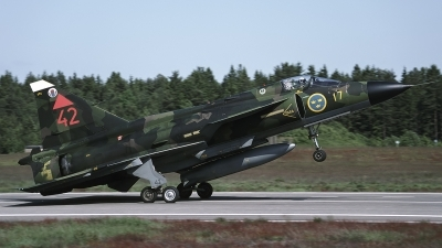 Photo ID 189622 by Chris Lofting. Sweden Air Force Saab JA37 Viggen, 37354
