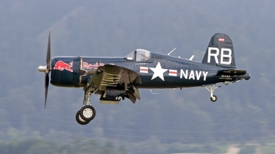 Photo ID 189779 by Niels Roman / VORTEX-images. Private Red Bull Vought F4U 4 Corsair, OE EAS