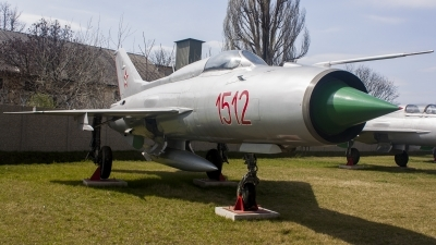 Photo ID 190688 by Gyula Rácz. Hungary Air Force Mikoyan Gurevich MiG 21PF, 1512