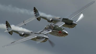 Photo ID 191257 by rinze de vries. Private Red Bull Lockheed P 38L Lightning, N25Y