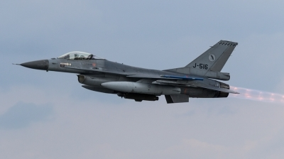 Photo ID 191390 by Mathias Grägel - GME-AirFoto. Netherlands Air Force General Dynamics F 16AM Fighting Falcon, J 516