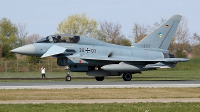 Photo ID 191376 by Mathias Grägel - GME-AirFoto. Germany Air Force Eurofighter EF 2000 Typhoon T, 30 03