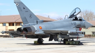 Photo ID 191513 by Ruben Galindo. Spain Air Force Eurofighter C 16 Typhoon EF 2000S, C 16 43