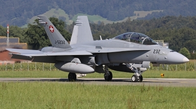 Photo ID 192233 by Andreas Weber. Switzerland Air Force McDonnell Douglas F A 18D Hornet, J 5232