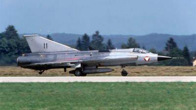 Photo ID 192241 by Marc van Zon. Austria Air Force Saab J35Oe MkII Draken, 11