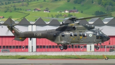 Photo ID 192826 by Sven Zimmermann. Switzerland Air Force Aerospatiale AS 332M1 Super Puma, T 315