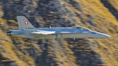 Photo ID 193157 by Martin Thoeni - Powerplanes. Switzerland Air Force McDonnell Douglas F A 18C Hornet, J 5020