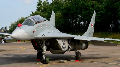 Photo ID 22973 by Markus Schrader. Hungary Air Force Mikoyan Gurevich MiG 29UB 9 51, 26