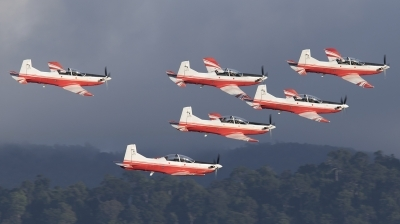 Photo ID 193537 by de Vries. Malaysia Air Force Pilatus PC 7 MkII, M50 02