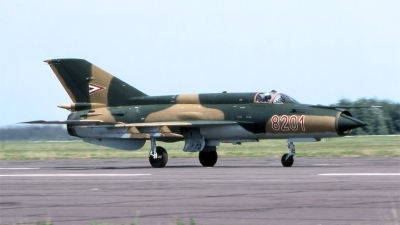 Photo ID 195390 by Marc van Zon. Hungary Air Force Mikoyan Gurevich MiG 21MF, 8201