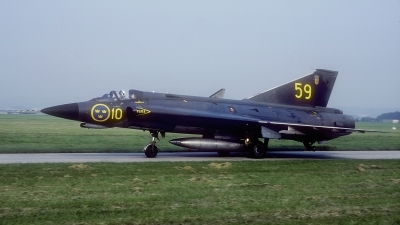 Photo ID 195344 by Rainer Mueller. Sweden Air Force Saab J35F Draken, 35613