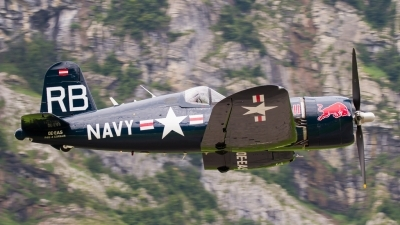 Photo ID 196072 by Agata Maria Weksej. Private Red Bull Vought F4U 4 Corsair, OE EAS