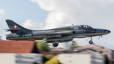 Photo ID 200049 by Adrian Stürmer. Private Fliegermuseum Altenrhein Hawker Hunter T68, HB RVP