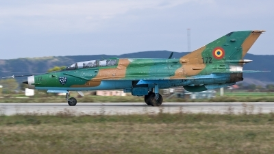Photo ID 200096 by Alexandru Chirila. Romania Air Force Mikoyan Gurevich MiG 21UM Lancer B, 172