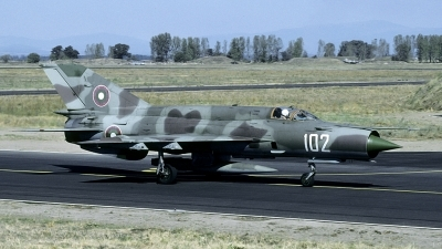 Photo ID 201125 by Joop de Groot. Bulgaria Air Force Mikoyan Gurevich MiG 21bis, 102