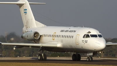 Photo ID 201390 by Sergio Marcelo Allende. Argentina Air Force Fokker F 28 1000C Fellowship, TC 52