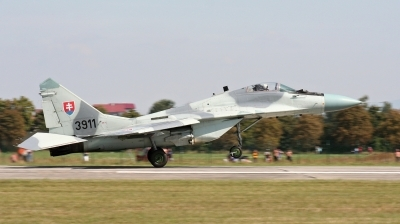 Photo ID 202012 by Milos Ruza. Slovakia Air Force Mikoyan Gurevich MiG 29AS, 3911