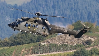 Photo ID 202084 by Ludwig Isch. Switzerland Air Force Aerospatiale AS 332M1 Super Puma, T 317