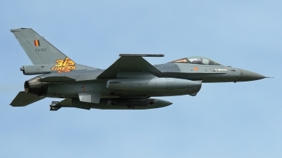 Photo ID 202107 by Rainer Mueller. Belgium Air Force General Dynamics F 16AM Fighting Falcon, FA 107