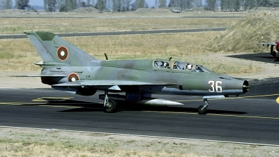 Photo ID 202570 by Joop de Groot. Bulgaria Air Force Mikoyan Gurevich MiG 21UM, 36