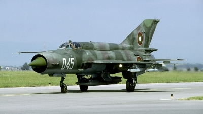 Photo ID 202622 by Joop de Groot. Bulgaria Air Force Mikoyan Gurevich MiG 21bis, 045