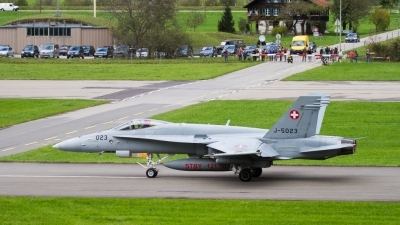 Photo ID 203394 by Agata Maria Weksej. Switzerland Air Force McDonnell Douglas F A 18C Hornet, J 5023