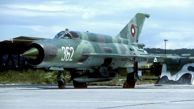 Photo ID 203541 by Carl Brent. Bulgaria Air Force Mikoyan Gurevich MiG 21bis SAU, 362