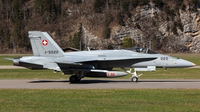 Photo ID 203858 by Thomas Ziegler - Aviation-Media. Switzerland Air Force McDonnell Douglas F A 18C Hornet, J 5020