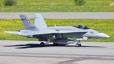 Photo ID 204074 by Fabio Radici. Switzerland Air Force McDonnell Douglas F A 18C Hornet, J 5021