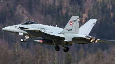 Photo ID 204442 by Thomas Ziegler - Aviation-Media. Switzerland Air Force McDonnell Douglas F A 18C Hornet, J 5010
