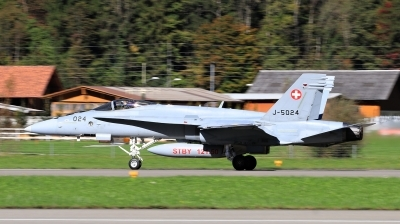 Photo ID 204570 by Milos Ruza. Switzerland Air Force McDonnell Douglas F A 18C Hornet, J 5024