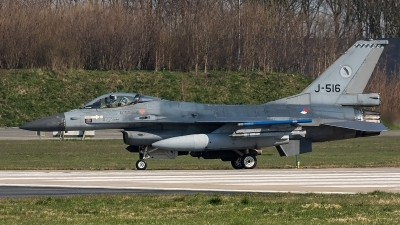 Photo ID 204644 by Thomas Ziegler - Aviation-Media. Netherlands Air Force General Dynamics F 16AM Fighting Falcon, J 516
