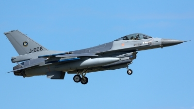 Photo ID 205269 by Thomas Ziegler - Aviation-Media. Netherlands Air Force General Dynamics F 16AM Fighting Falcon, J 008
