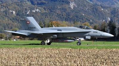 Photo ID 205264 by Milos Ruza. Switzerland Air Force McDonnell Douglas F A 18C Hornet, J 5006