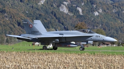 Photo ID 205262 by Milos Ruza. Switzerland Air Force McDonnell Douglas F A 18C Hornet, J 5024