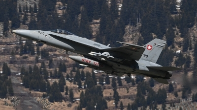 Photo ID 205686 by Luca Fahrni. Switzerland Air Force McDonnell Douglas F A 18C Hornet, J 5020
