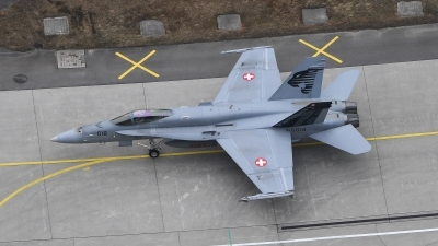 Photo ID 205733 by Luca Fahrni. Switzerland Air Force McDonnell Douglas F A 18C Hornet, J 5018
