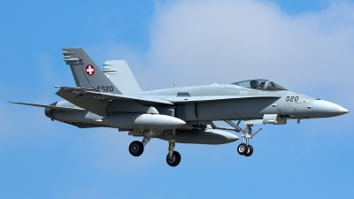 Photo ID 206023 by Thomas Ziegler - Aviation-Media. Switzerland Air Force McDonnell Douglas F A 18C Hornet, J 5020