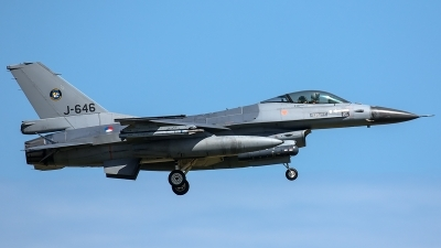 Photo ID 206058 by Thomas Ziegler - Aviation-Media. Netherlands Air Force General Dynamics F 16AM Fighting Falcon, J 646