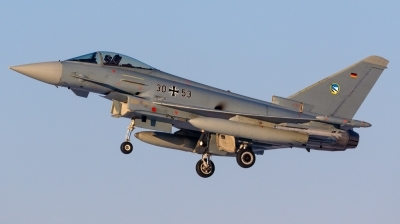 Photo ID 206046 by Mathias Grägel - GME-AirFoto. Germany Air Force Eurofighter EF 2000 Typhoon S, 30 53