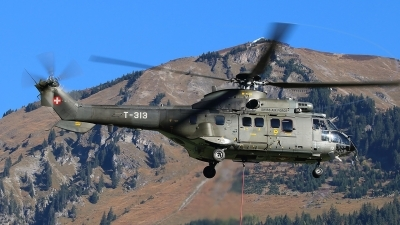 Photo ID 206127 by Ludwig Isch. Switzerland Air Force Aerospatiale AS 332M1 Super Puma, T 313