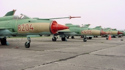 Photo ID 210375 by Zafir Peter. Hungary Air Force Mikoyan Gurevich MiG 21MF, 8204
