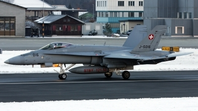 Photo ID 206601 by Richard de Groot. Switzerland Air Force McDonnell Douglas F A 18C Hornet, J 5016